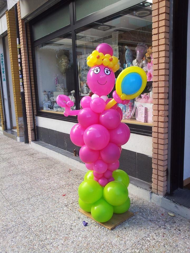 barbabella realizzata con i palloncini