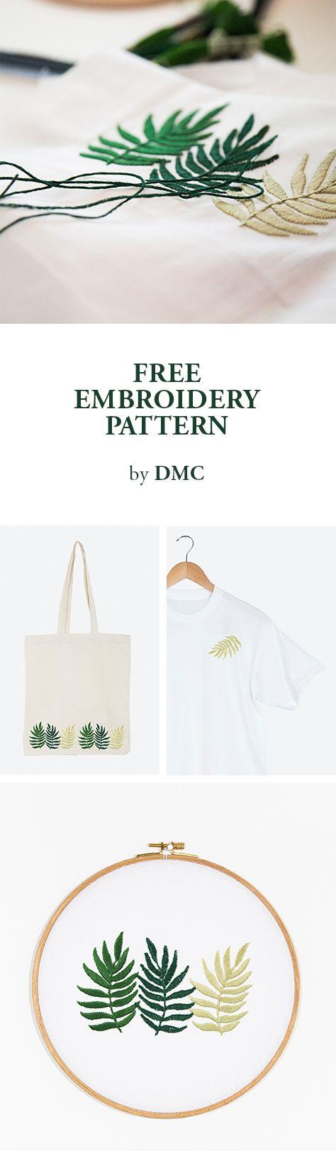 FREE EMBROIDERY PATTERN by DMC. | homeschool | Pinterest | Bordado ...