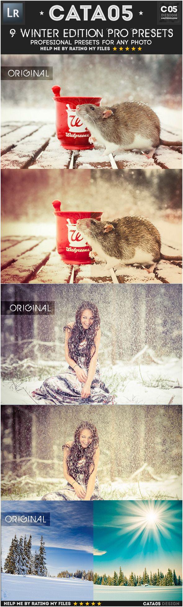 9 Winter Edition Pro Presets - Portrait #Lightroom Presets Download here: https://graphicriver.net/item/9-winter-edition-pro-presets/6495650?ref=alena994