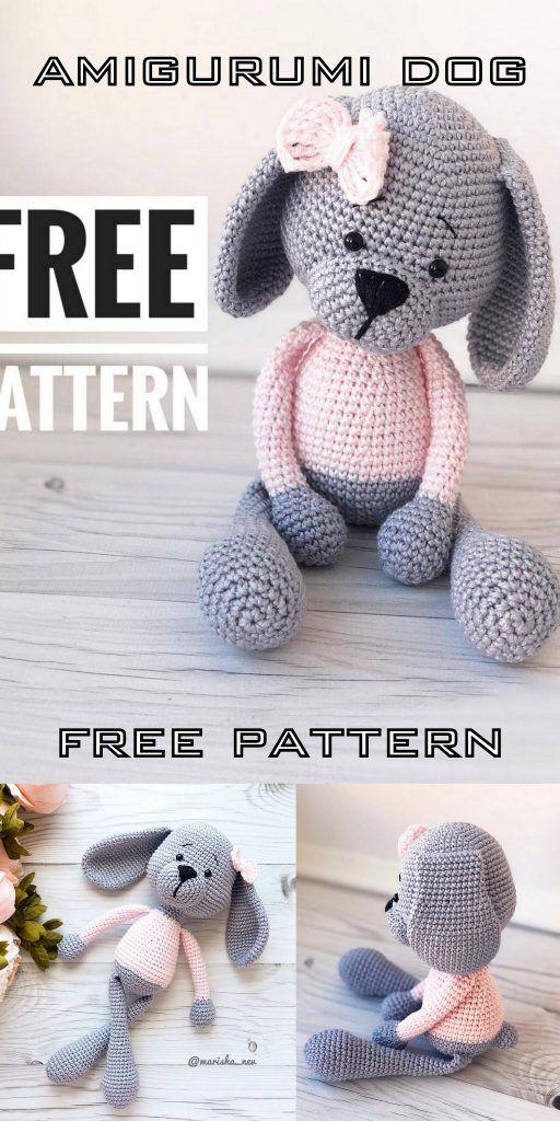 Amigurumi Sweet Dog Free Crochet Pattern - Amigurumi Crochet #amigurumicrochet