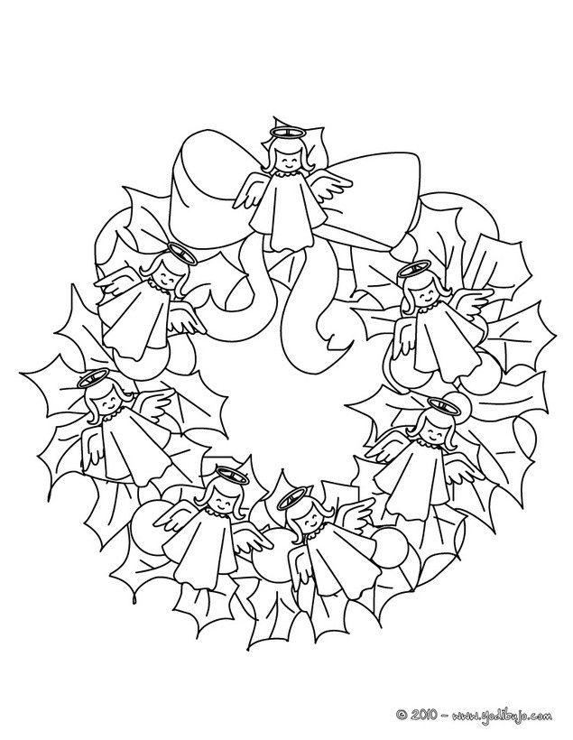 Maestra de Infantil Ángeles de Navidad para colorear Mandalas - navidad para colorear