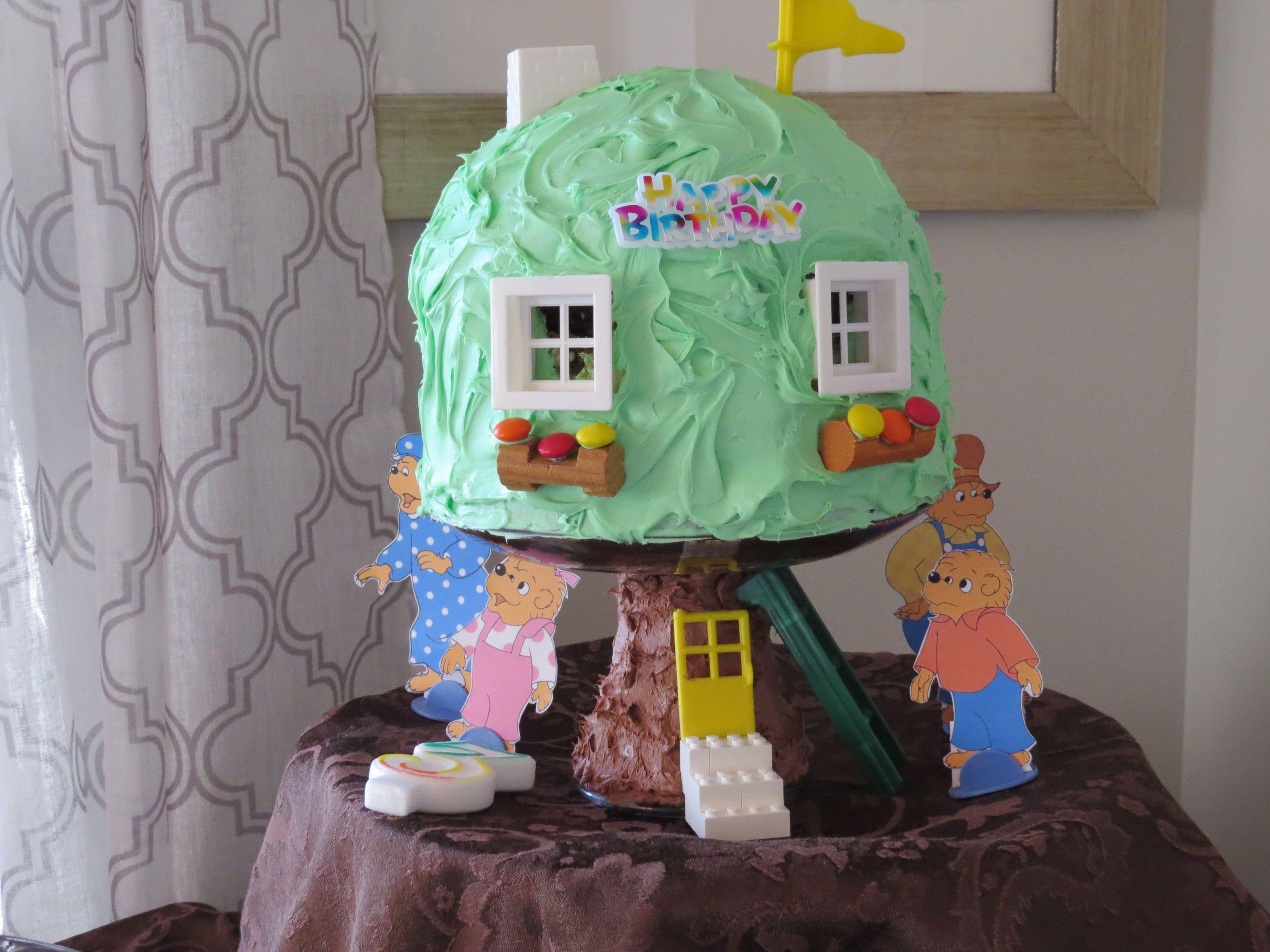 Berenstein Bear Treehouse Cake I Used The Betty Crocker