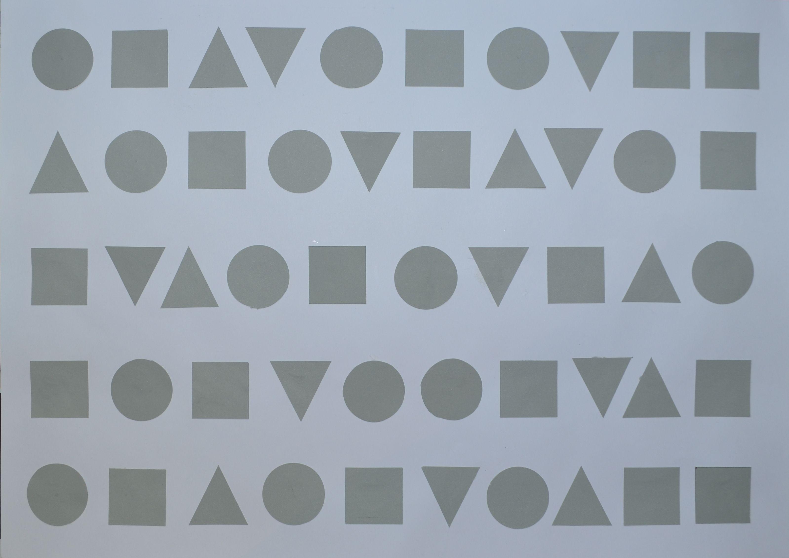 Sensibilización al ritmo. Escritura y tipografía, aspectos geométricos. Signo tipográfico, proporciones.