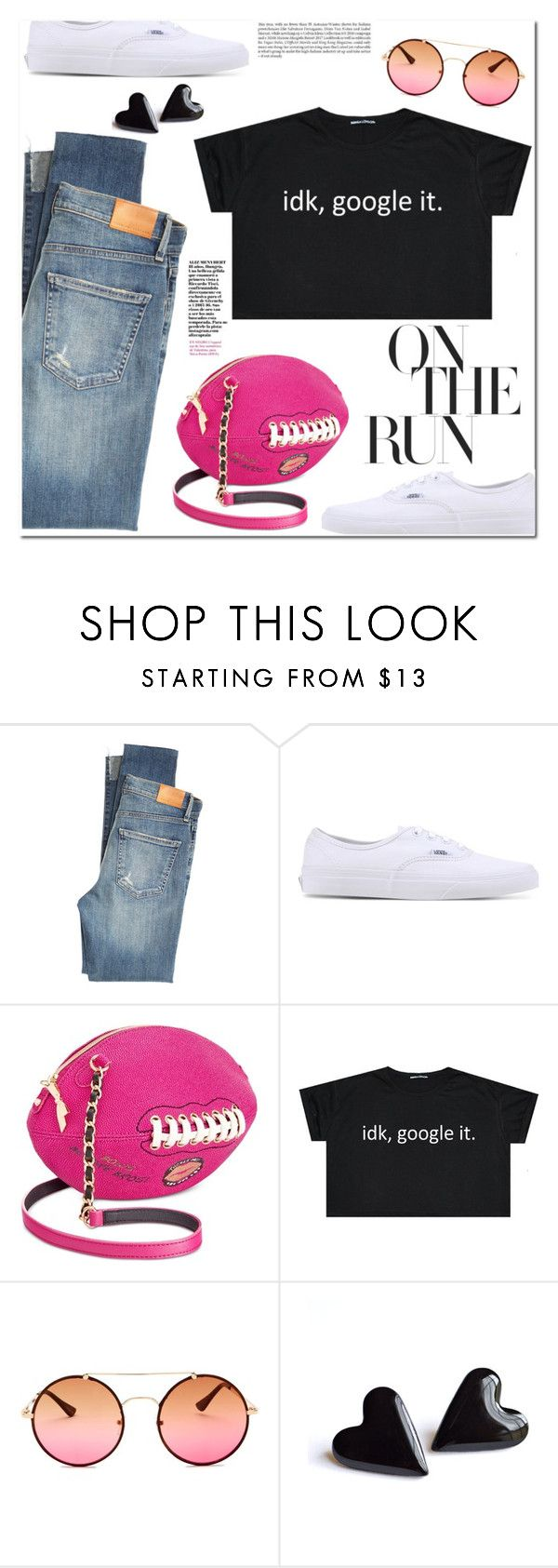 """On the Run!"" by christinacastro830 ❤ liked on Polyvore featuring Citizens of Humanity, Vans and Betsey Johnson"
