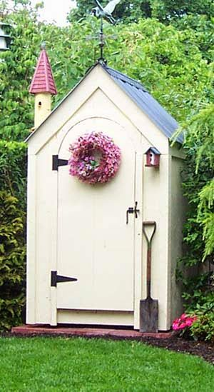 4x4 non working Outhouse Shed. Example shops optional arched door. Standard Plans $19.95, Kits -  1 person 10 hours + Fully Assembled in the northeast. Kits ship *Free in the continental US + eastern Canada. http://jamaicacottageshop.com/shop/out-house/ http://jamaicacottageshop.com/wp-content/uploads/pdfs/pdf4x4outhouse.pdf http://jamaicacottageshop.com/free-shipping/ #jamaicacottageshop #outhouses #offgrid #offthegrid #shed #sheds