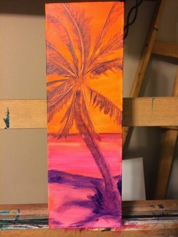 Andrea McGee - Artist: Palm Tree Painting Oil on Canvas