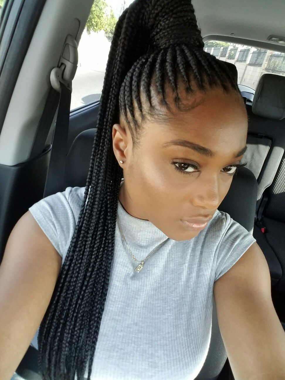 Pin By Dionne Alicia On Braids Cornrows Braids For Black Hair Braided Ponytail Braided Hairstyles