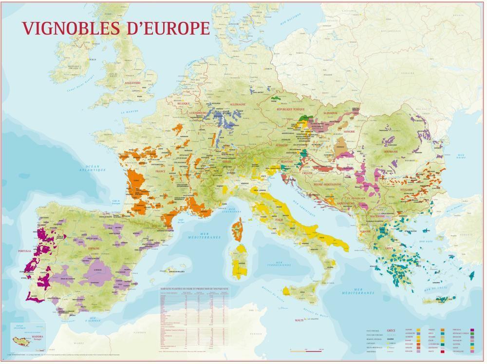 Wine Map Of Europe Wine Maps In 2019 Pinterest Burgundy Wine