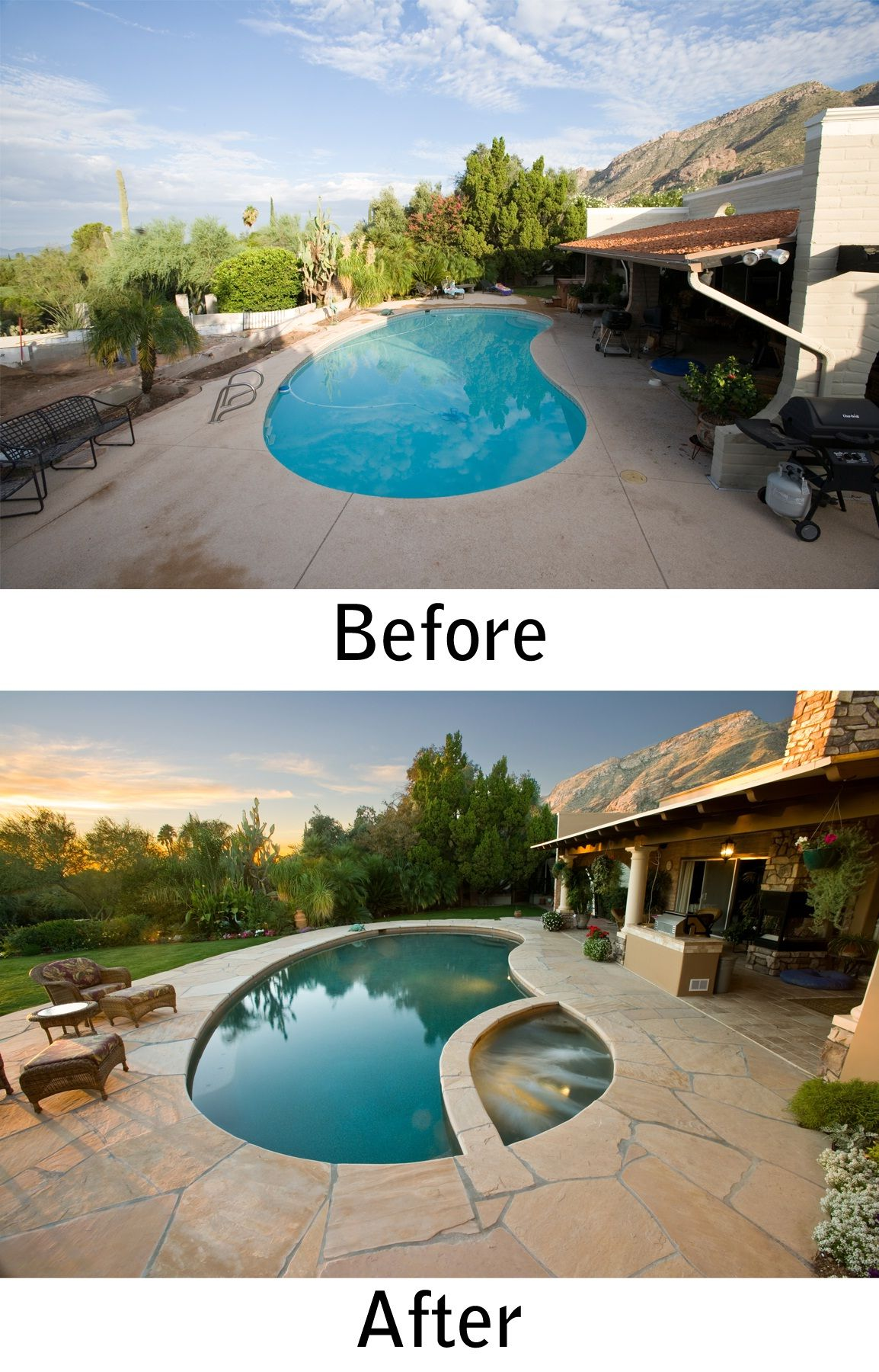 Tucson Pool And Spa Renovation By Patio Pools And Spas.