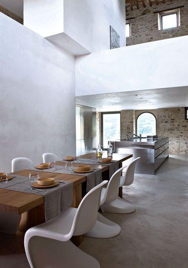 Rénovation du0027une ferme  lu0027exemple magique du0027une maison italienne - exemple de maison moderne