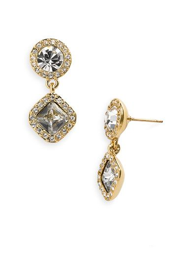 Kate Spade New York Pave Drop earrings. Wear sparkles for work? Oh yes, says @Diane Haan Lohmeyer Aiello. These go from day to night seamlessly. Wear them all the time.