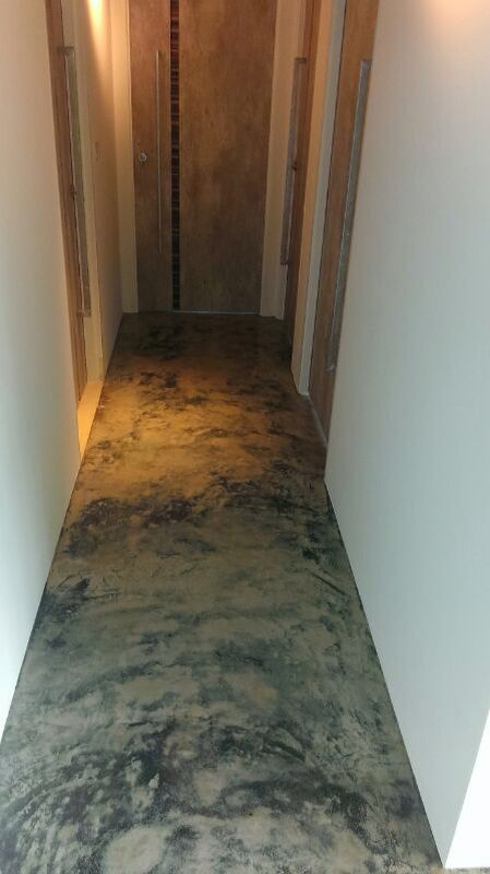 Close Up Of Cement Screeding And Concrete Floor