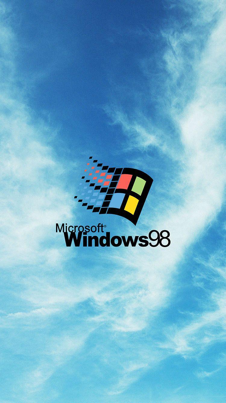 Microsoft Windows 98 Logo Iphone 6 Wallpaper Microsoft Wallpaper Vaporwave Wallpaper Iphone Wallpaper
