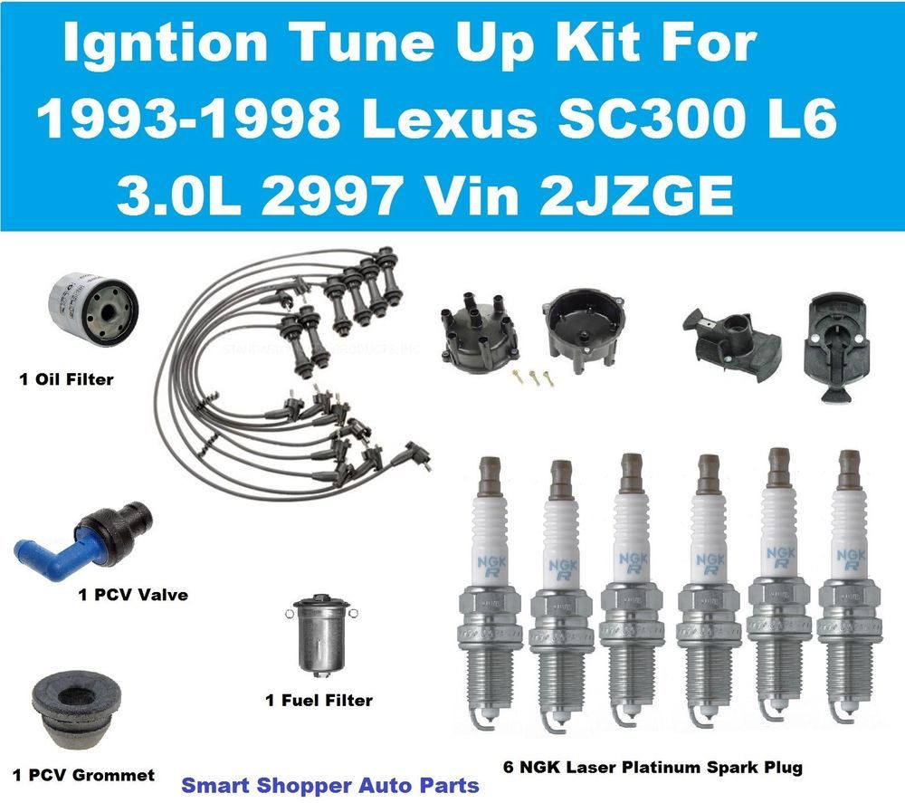 Ignition Tune Up for 93-98 Lexus SC300 Distributor Cap Rotor Wire ...