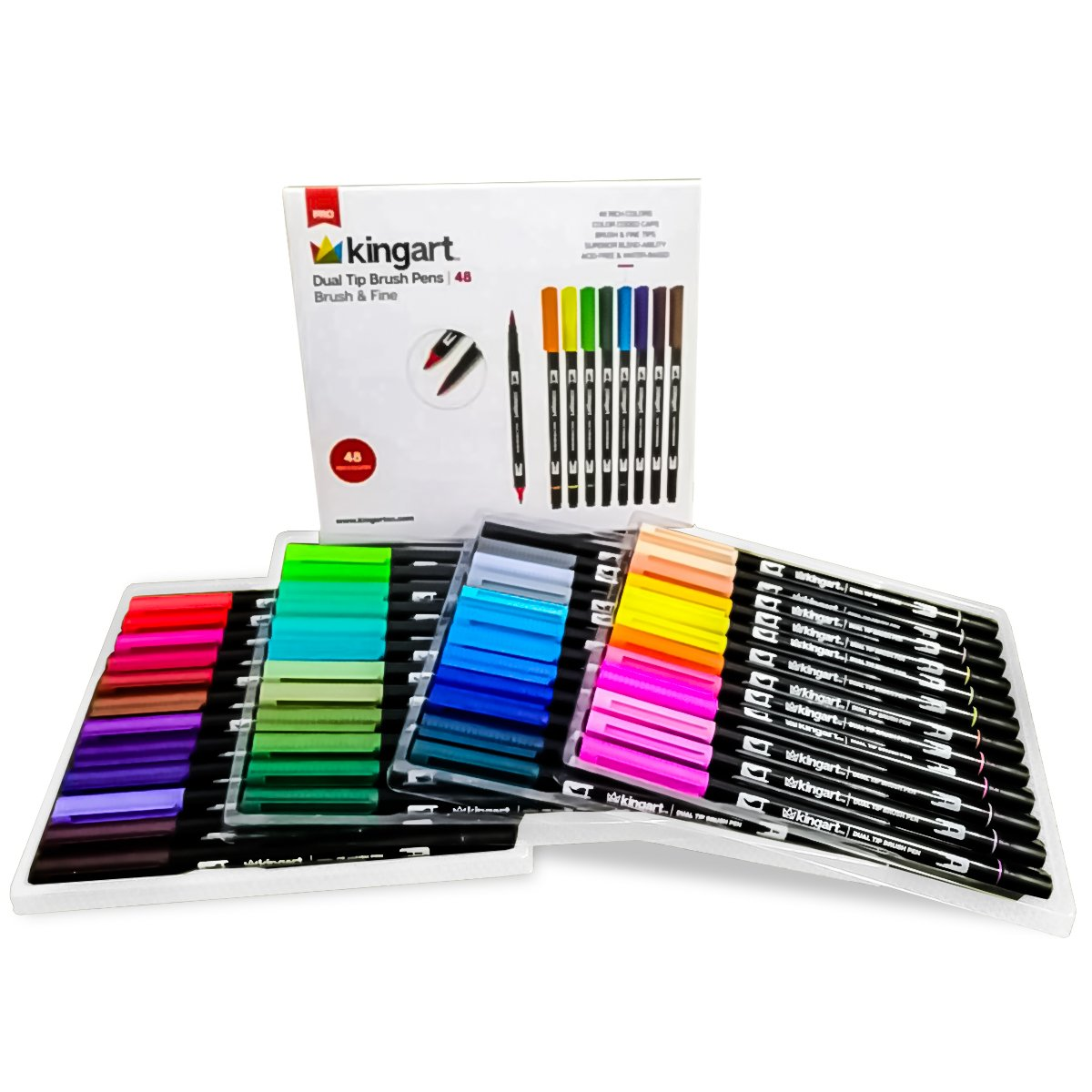Comic Book Color Range Dual Tip Brush and Fine Point Sketch Markers 48 Pack