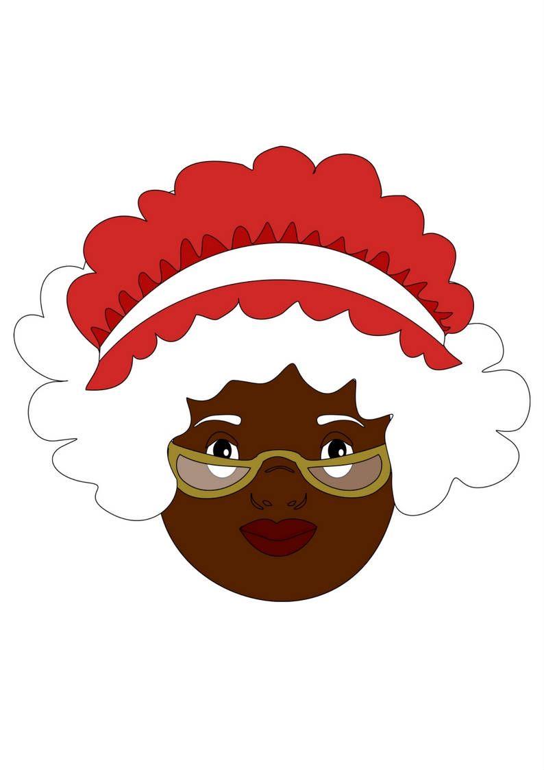 Pin On Black Santa