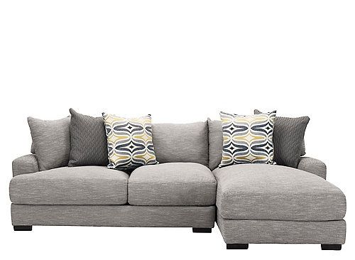 Leighton 2 Piece Sectional Sofa Pulls It Off Seamlessly. Overstuffed,  Reversible Cushions Feature Gel Infused Memory Foam For Plush Seating,  While An Array ...