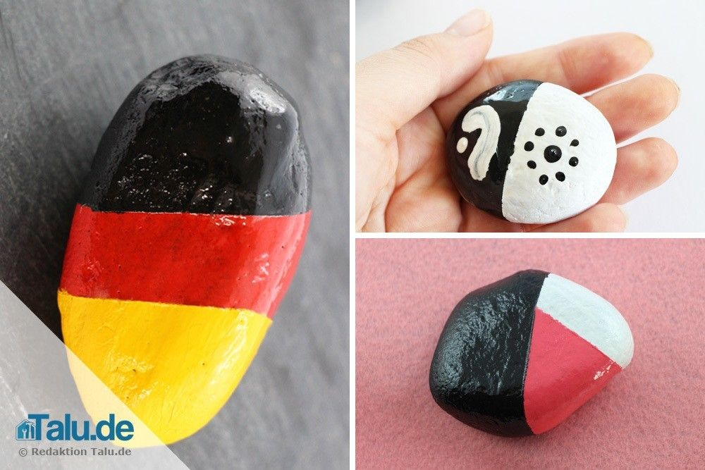 Steine bemalen - 5 schöne Motive und Vorlagen #steinebemalenvorlagen