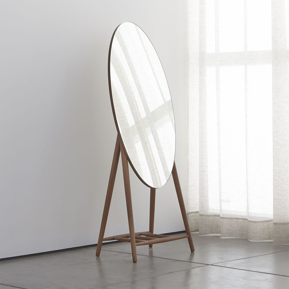 Luxley Oval Floor Mirror - Crate and Barrel | Floor mirror and Products