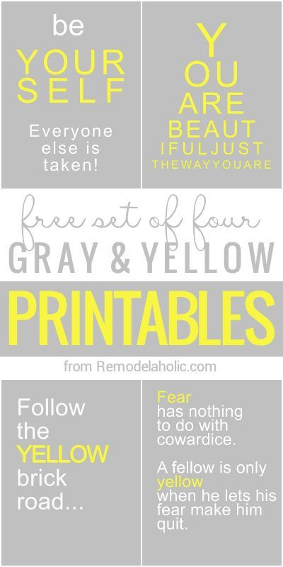 Free Yellow And Grey Printables Yellow Bedroom Grey Laundry Rooms Yellow Bathrooms