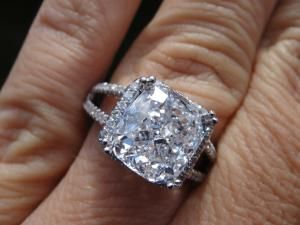 HUGE Diamond ring white Gold Halo setting Diamonds Pinterest