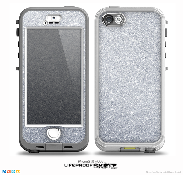 iphone 5s silver the silver sparkly glitter ultra metallic skin for the 11247
