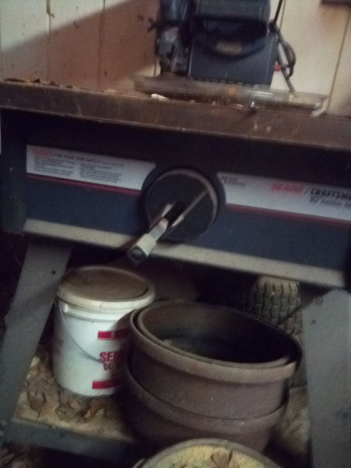 Works Good Just Needs Cleaning This Is The Newer Of The Two Radial Arm Saws I Have By Craftsman Craftsman Tools Radial Arm Saw Tools And Equipment