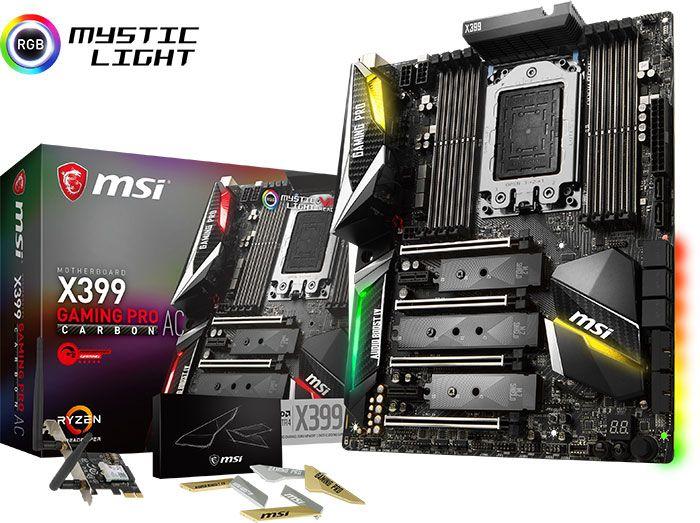 Carte Mere Msi X399 Gaming Pro Carbon Ac Pc Computer Memory Module