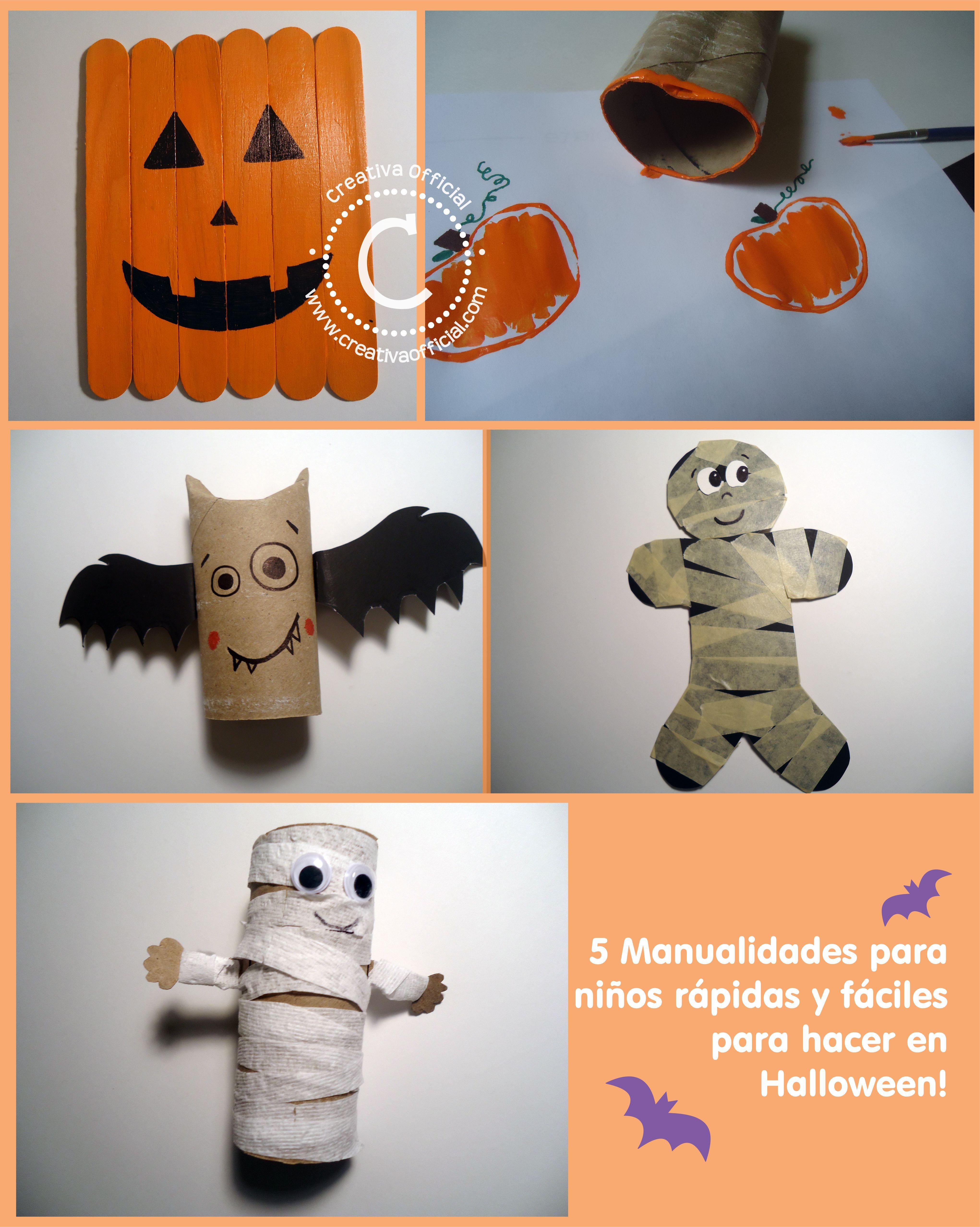 5 Manualidades para niños fáciles y rápidas para hacer en Halloween ...