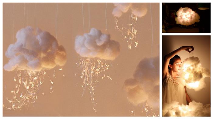 Nubes luminosas con luz led