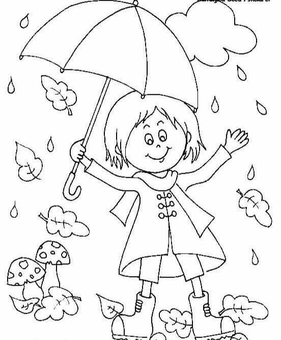 Rainy Day Fall Coloring Pages Coloring Pages Coloring Pages For Kids