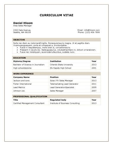 Traditional Table jmthf Pinterest Template, Resume format - sample one page resume format