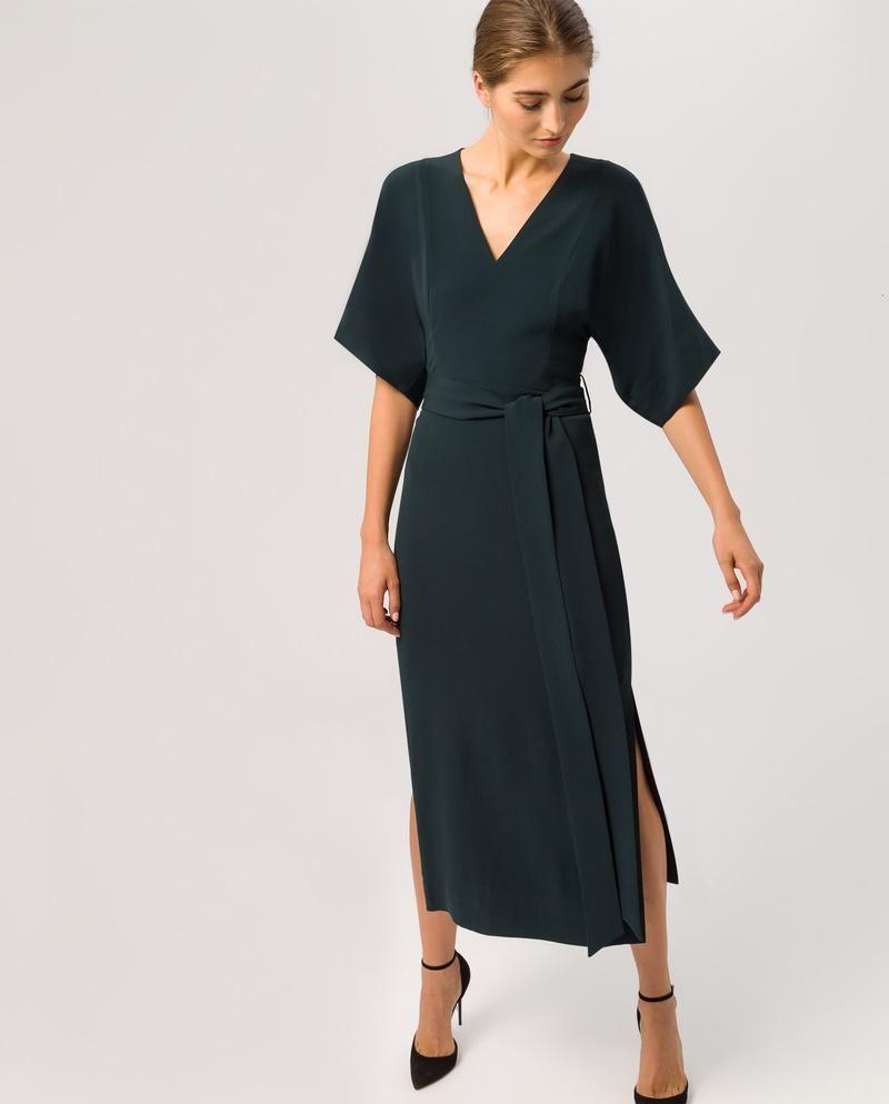 kimono dress with wide sleeves and waistbelt | kimono dress
