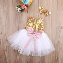 Bow-knot Sequin Baby Girl Christmas Dress Infant Baby Sleeveless Baptism tutu Gown Kids Dresses for Girls Party Clothing Size #babygirlpartydresses