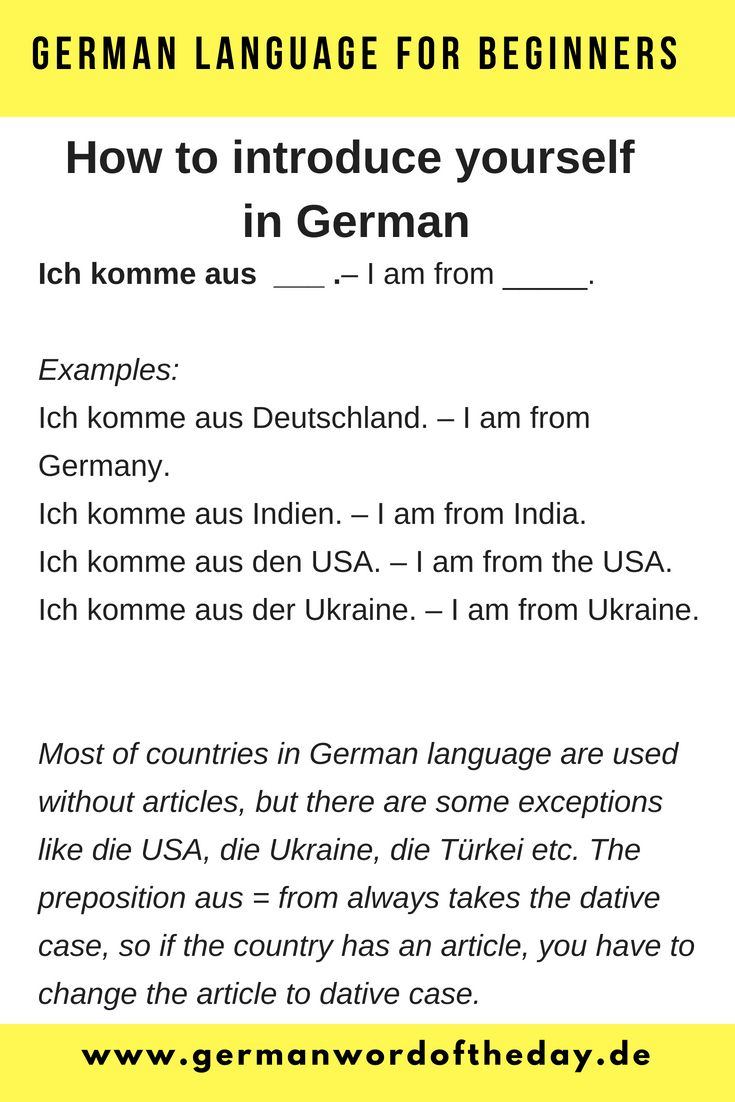 Learn German Basic German Words German For Beginners Basic