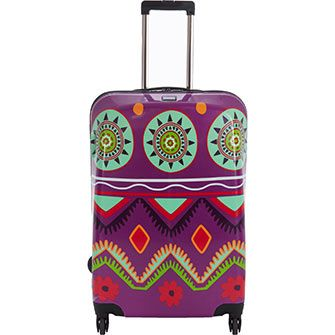 Travelite Purple Patterned Hard Shell Spinner Suitcase | suitcases ...