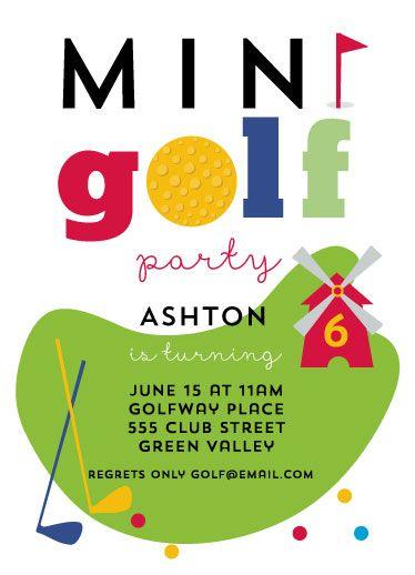 Mini golf party by ilze lucero einladung geburtstag pinterest birthday party invitations mini golf party filmwisefo Choice Image