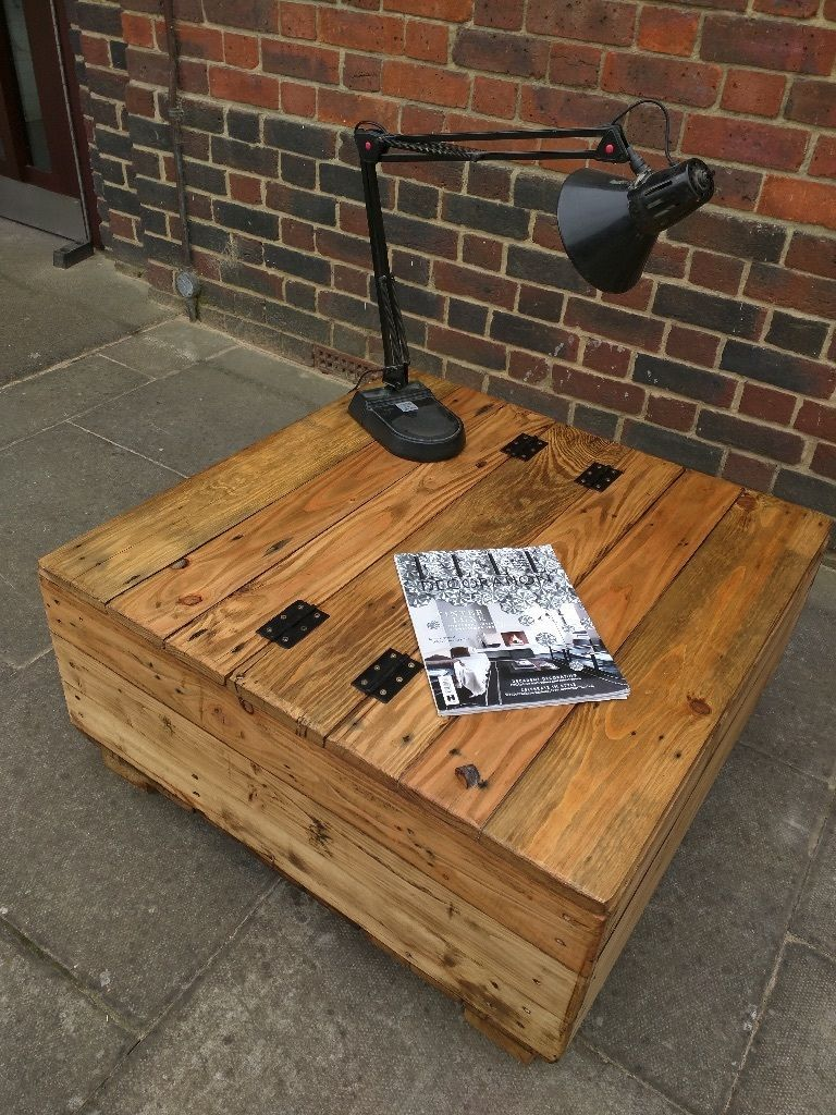 Handmade Rustic Storage Coffee Table With Double Opening Lid Rustic Industrial Coffee Table Coffee Table Coffee Table Farmhouse