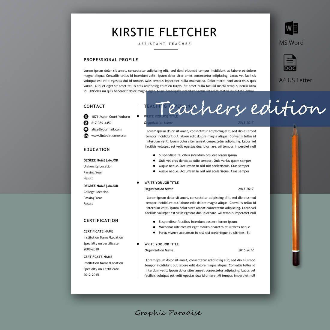 resume template, teacher resume template, teacher resume word,cv, cv
