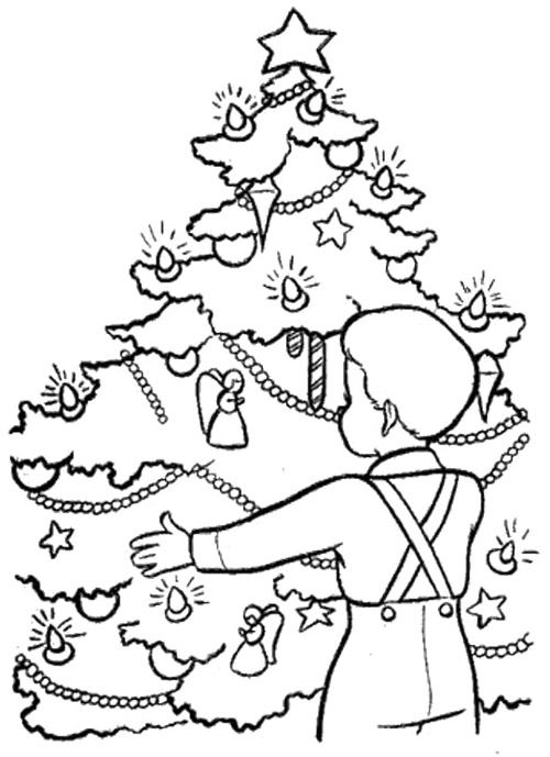 Christmas Eve In Germany Coloring Page With Images Christmas