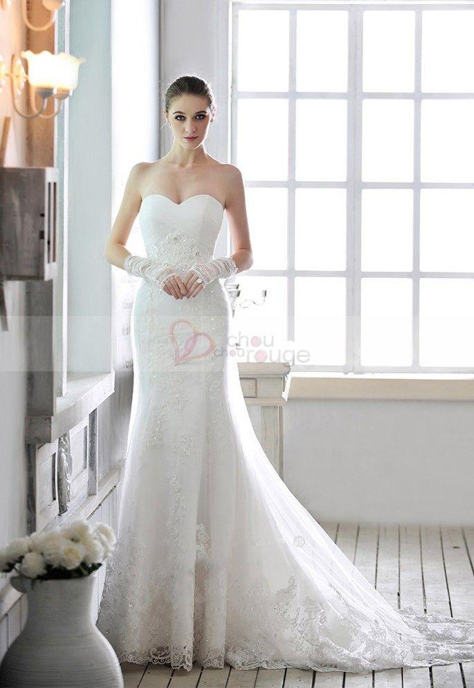 robe de mari e blanche bustier en c ur avec lacets de On robes de mariée avec lacets dos