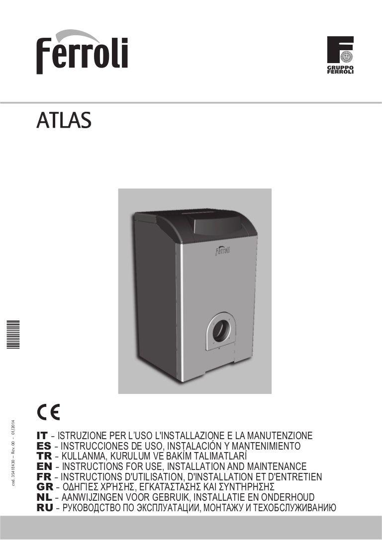 Manual instrucciones caldera de gasoil Ferroli atlas-3-estrellas ...