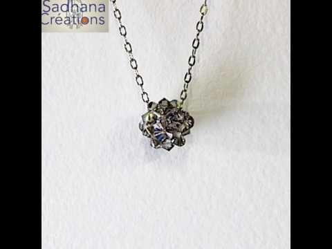 Dodécaèdre créé avec cristaux Swarovski | Swarovski, Collier ...
