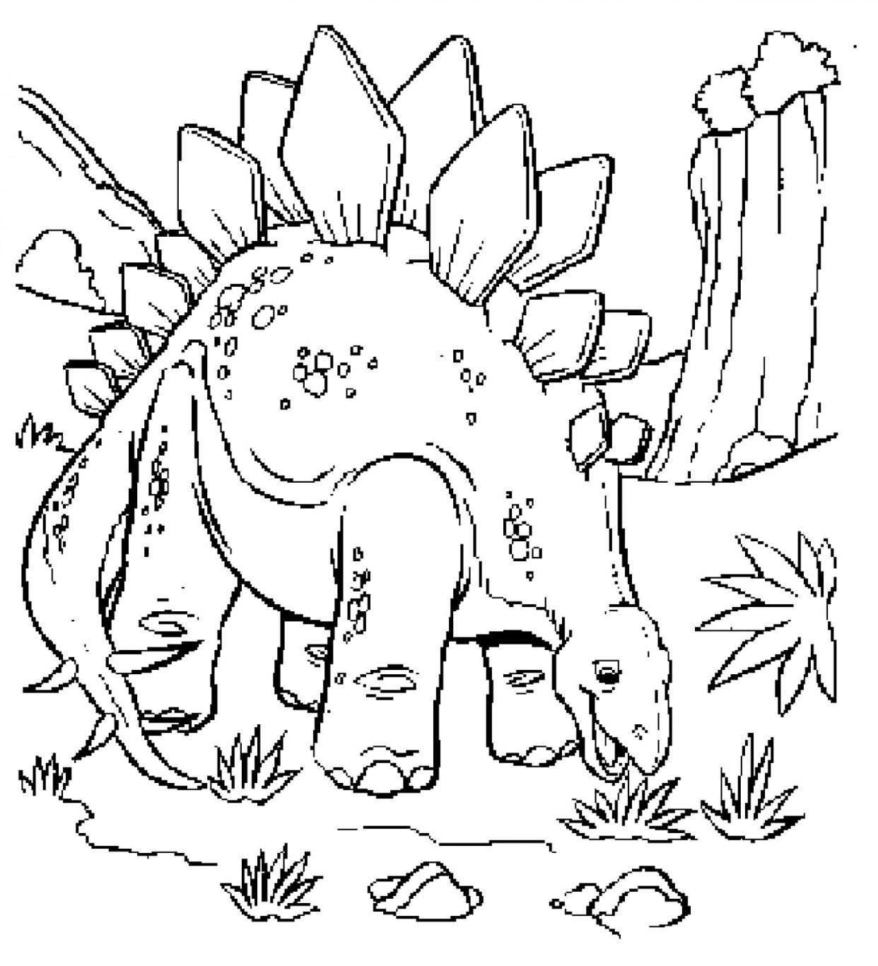 Childrens coloring dinosaur pages - Jurassic Park Dinosaur Eat 2 Coloring Page
