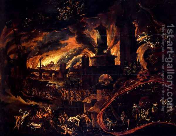 medieval images of hell hell scene jacob isaacsz oil