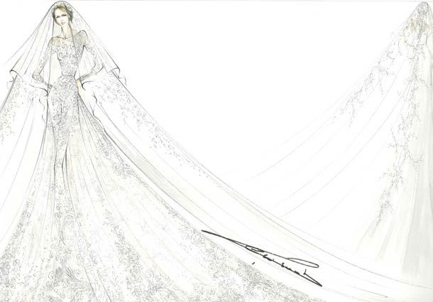Princess Claire of Luxembourg is picture-perfect in Elie Saab wedding gown