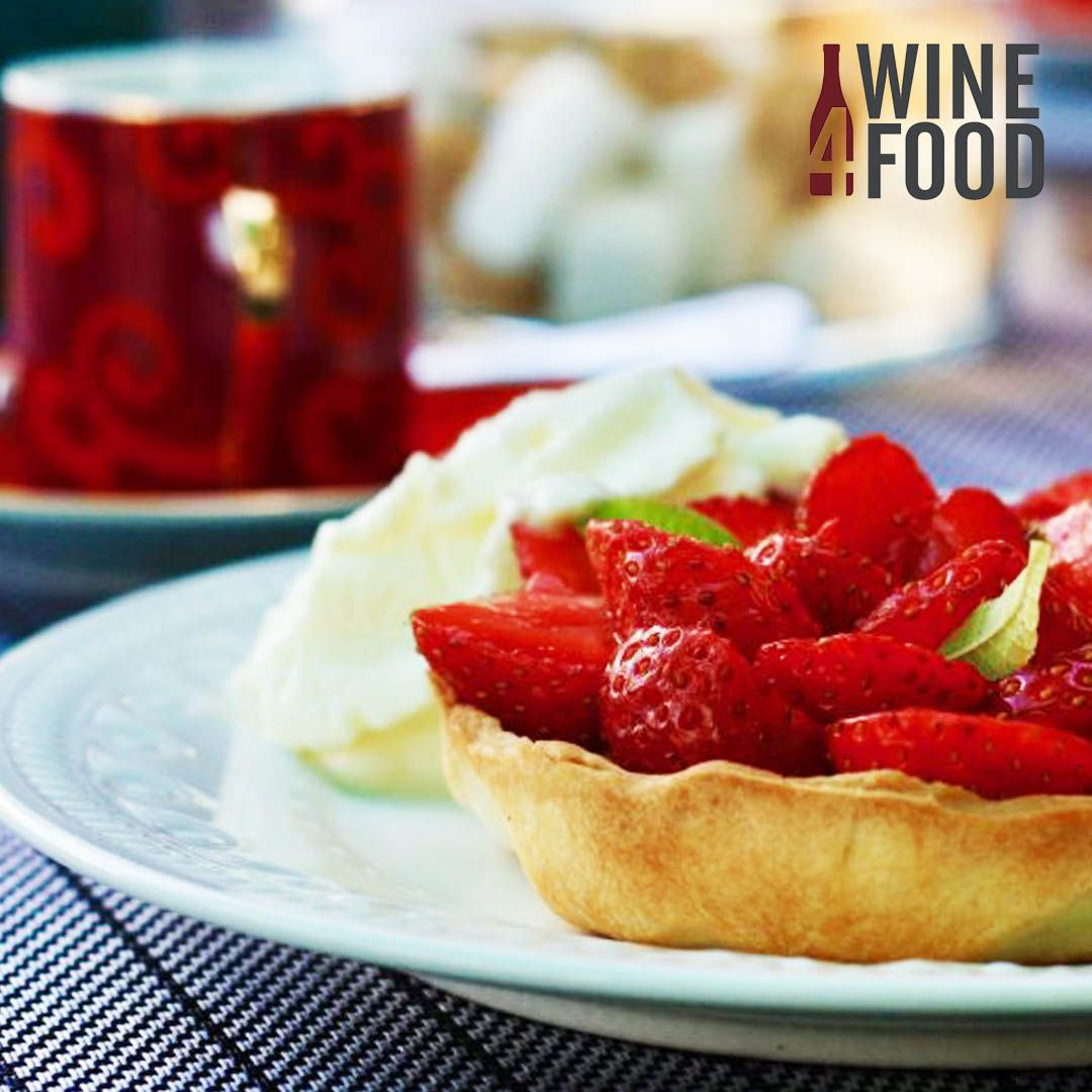 Strawberry Tart With Verbena Cream Plus Perfect Wine Pairings Wine Recipes Recipes Wine Food Pairing