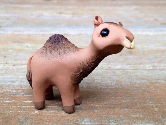 Camel: Handmade miniature polymer clay animal by AnimalitoClay