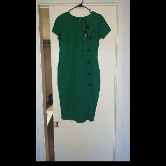 Nature dress Really cute green dress it's a little lower than my knees and I'm about 5'5 it's new nature  Dresses