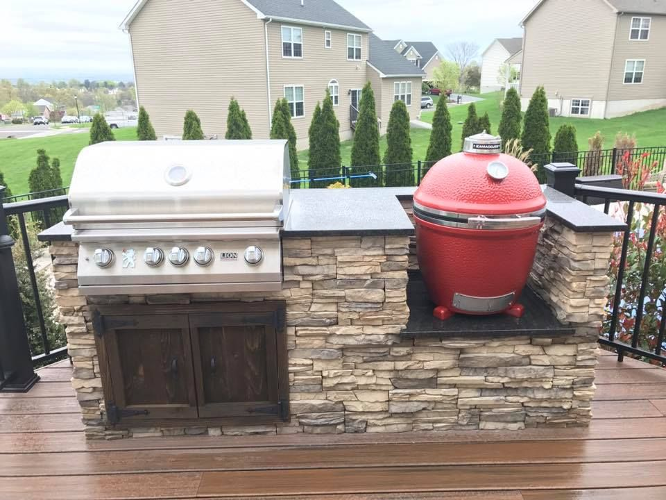 Pin By Brian Hoard On Kamado Grill Tables And Outdoor Kitchen Ideas Build Outdoor Kitchen Outdoor Kitchen Design Kamado Grill Table